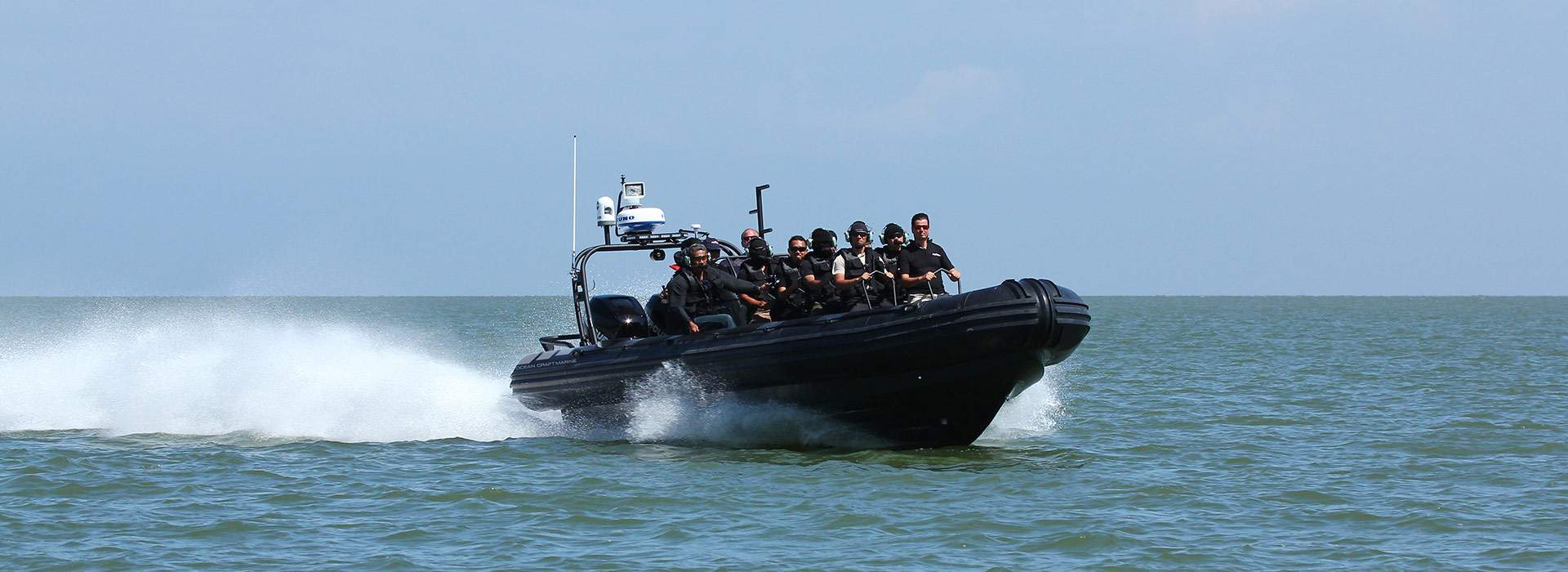 Ocean Craft Marine's Todd Salus Delivers New Boat and Training to the Royal Brunei Police