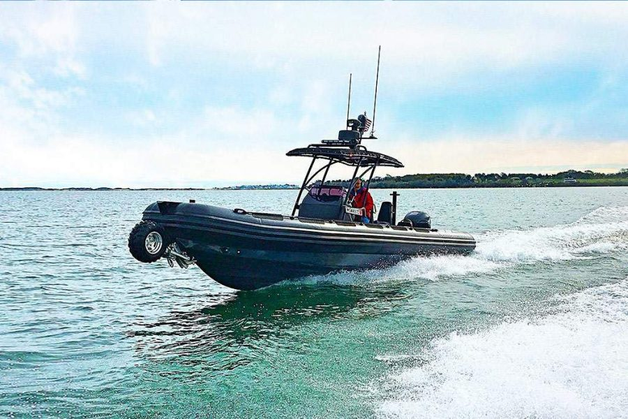 Delivery of the first OCM 9.8m Amphibious RIB on its way