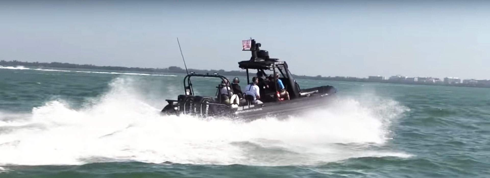 The new OCM 9.5 Meter High-Speed Vessel Interdiction RHIB at the Multi Agency Craft Conference 2016