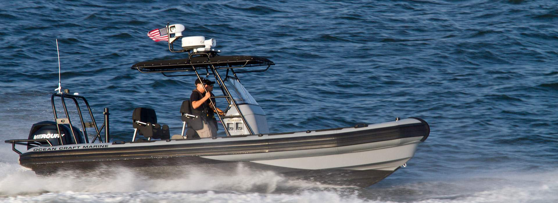 Ocean Craft Marine (OCM) Introduces it's 8.0 Meter Law Enforcement RHIB
