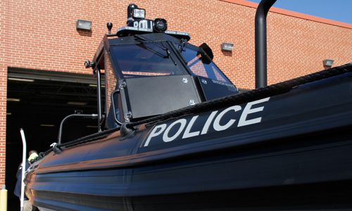 law enforcement rigid hull inflatable boat