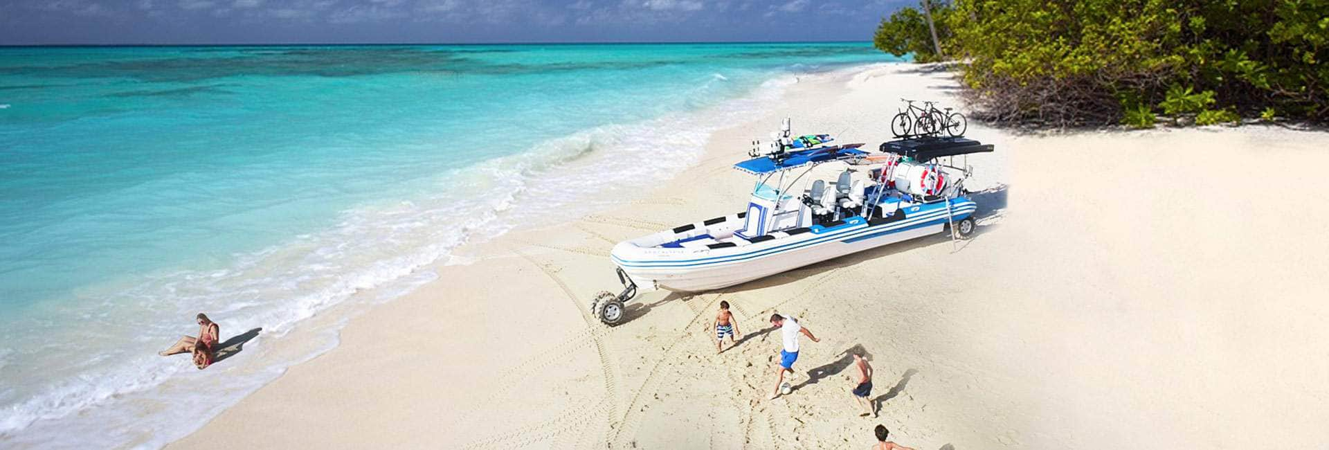 amphibious RHIB boat