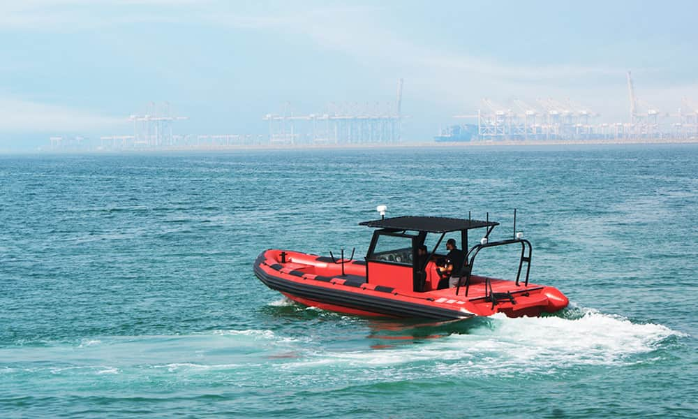 Rigid Inflatable boat for diving