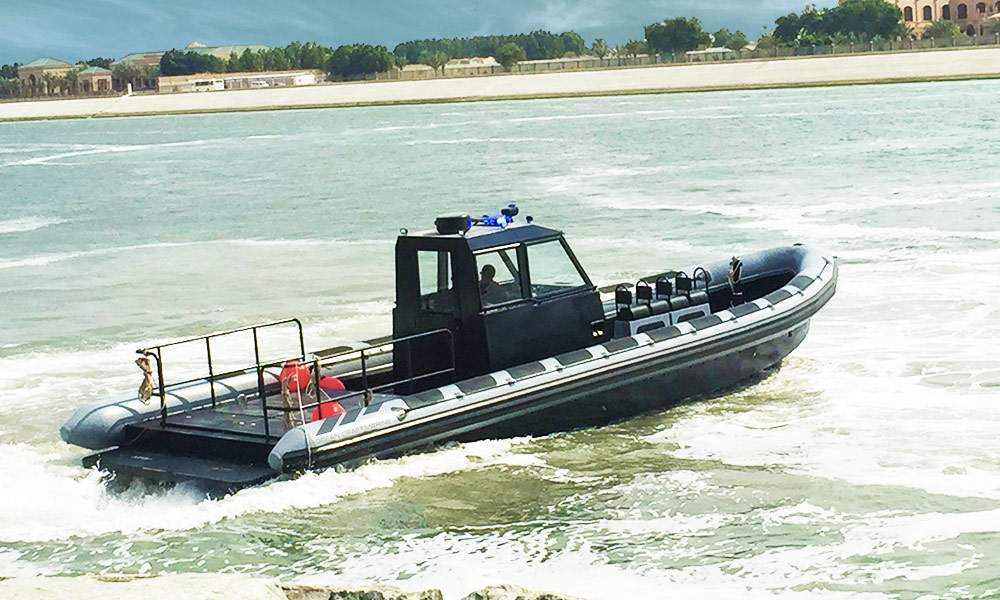 anti-piracy rigid inflatable boat