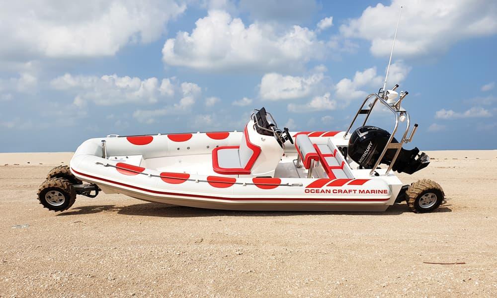 Amphibious-Boat-on-sand