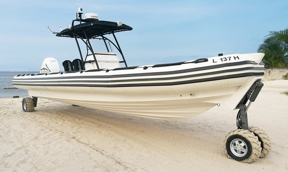 Amphibious-boat-on-the-beach