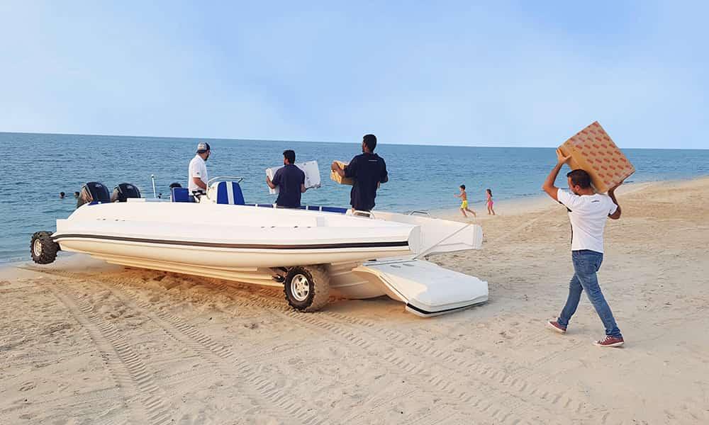 Amphibious-landcraft
