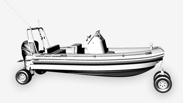 military-amphibious-7.1-4WD-boat