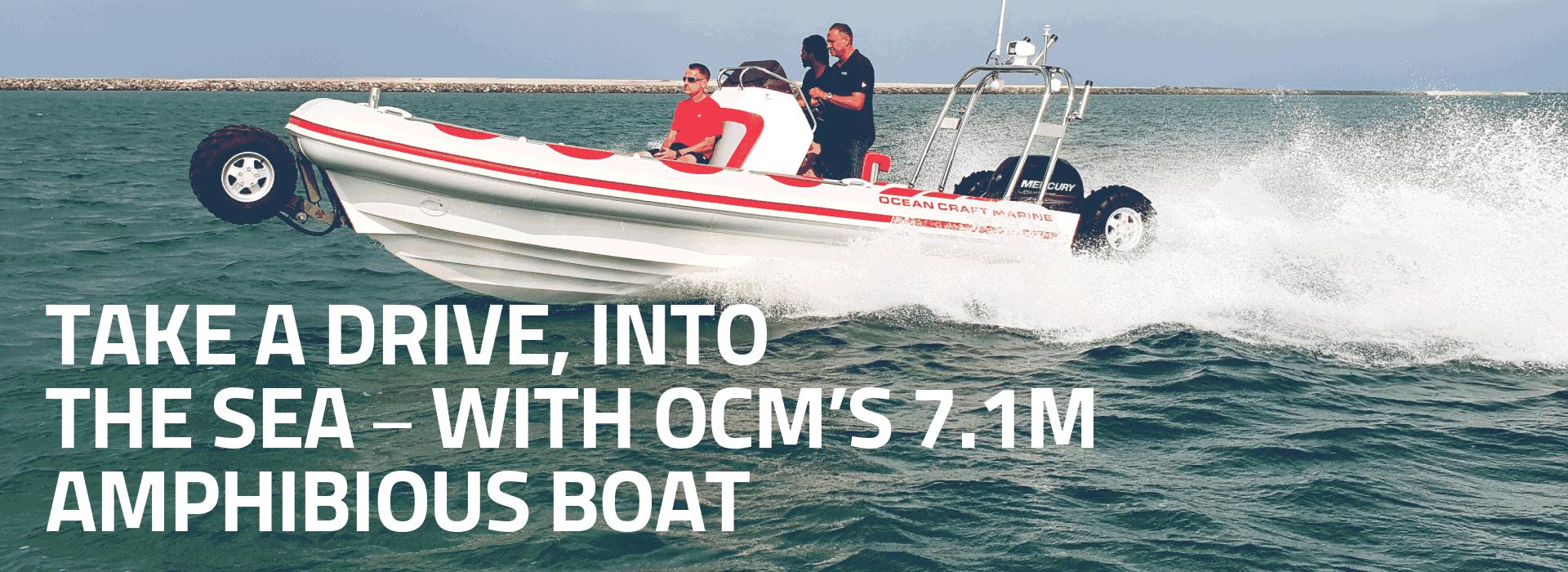 7.1M Amphibious Boat on Water