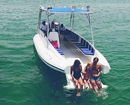 Family Fun with OCM Beachlander Boat
