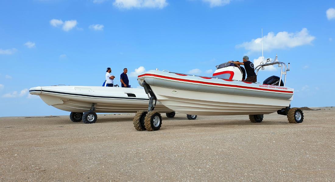 4WD Amphibious boat 8.4 meter