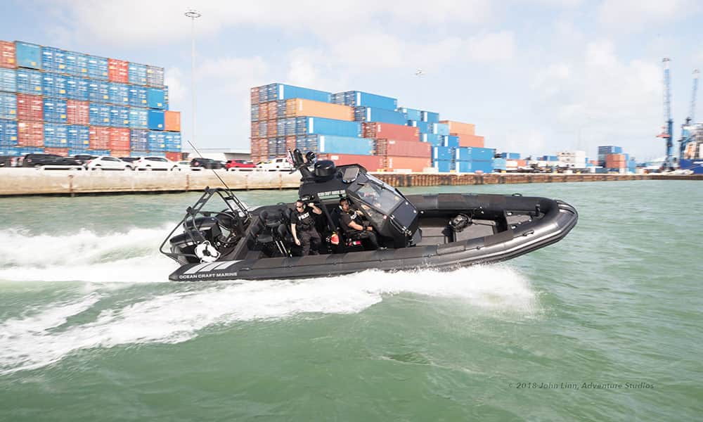 Rigid-Inflatable-boat-for-police