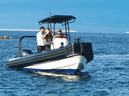 Rigid Inflatable Boats with Flat Foam Push Bow