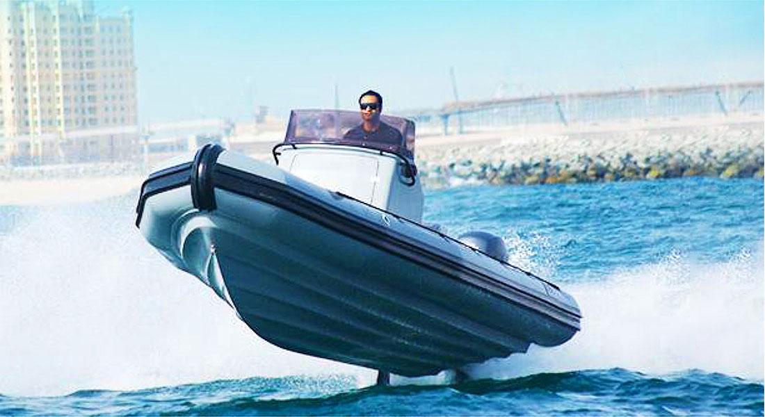 Fiberglass Boat Hull in Action