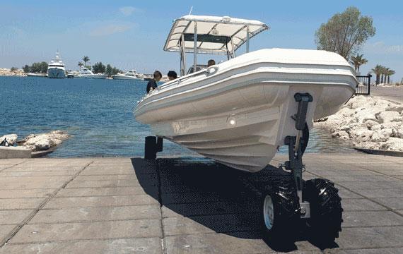 Amphibious Boat for Sea & Land