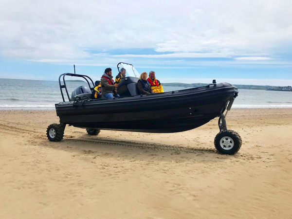 OCM Amphibious Boat with Retractable Wheels