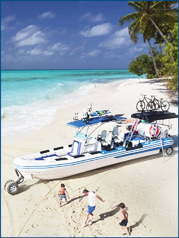 OCM Recreational Amphibious Boat with Bike Rack