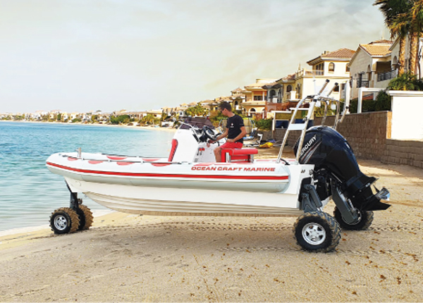 Boat with Wheels from OCM Boats