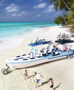 9.8m amphibious rhib boat