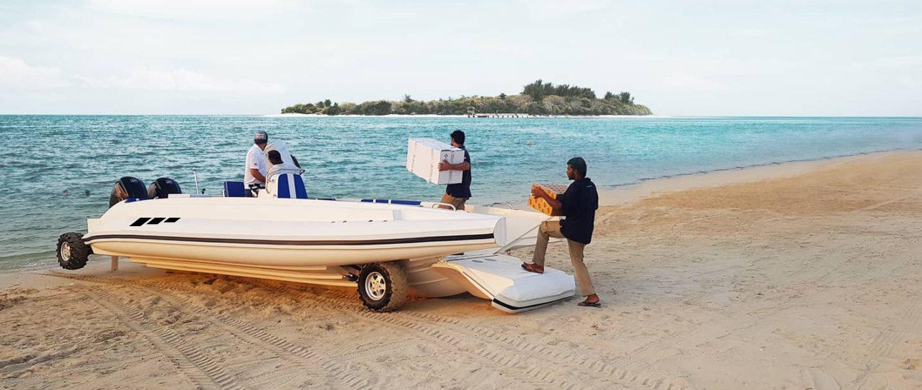 transport boat amphibious beachlander