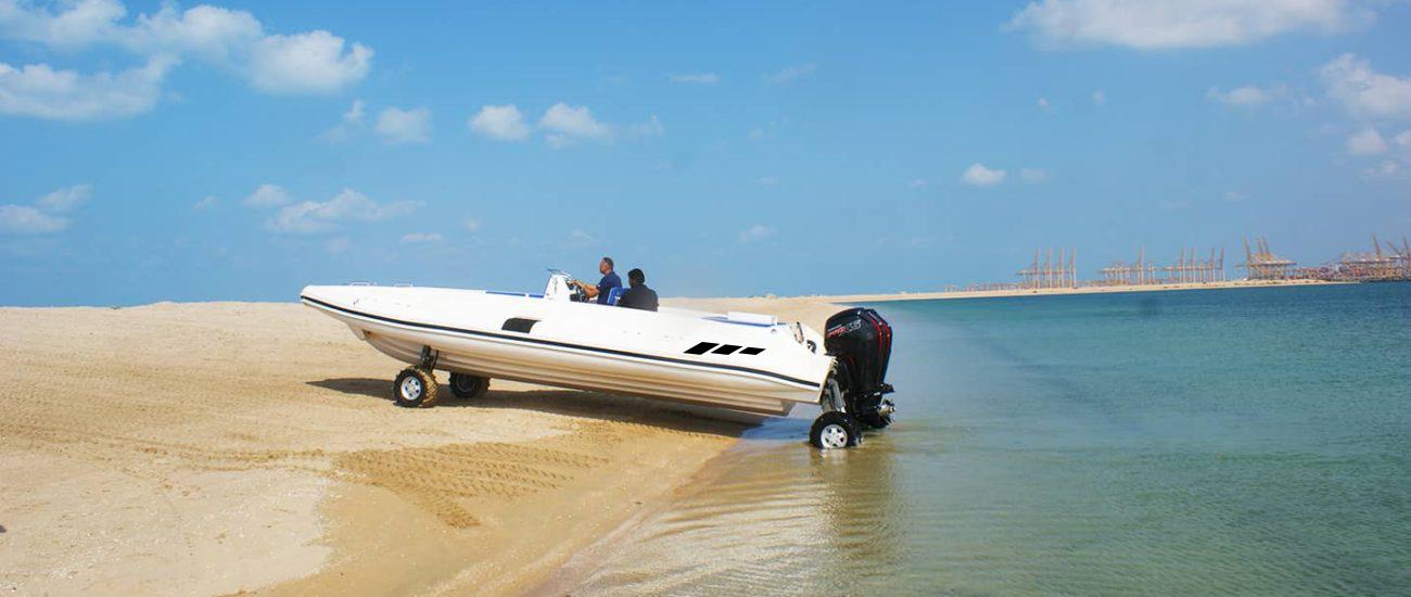 amphibious beachlander rib boat 9.5m