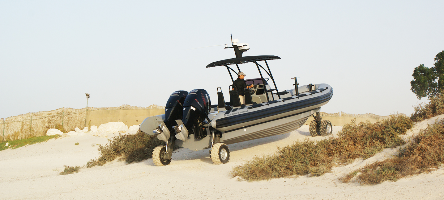 mil-pro boat with four wheels