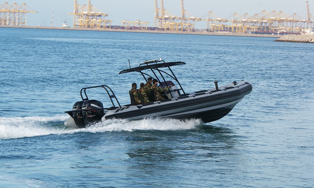 anti-piracy rigid inflatable boat