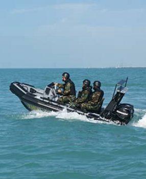 anti-piracy boat