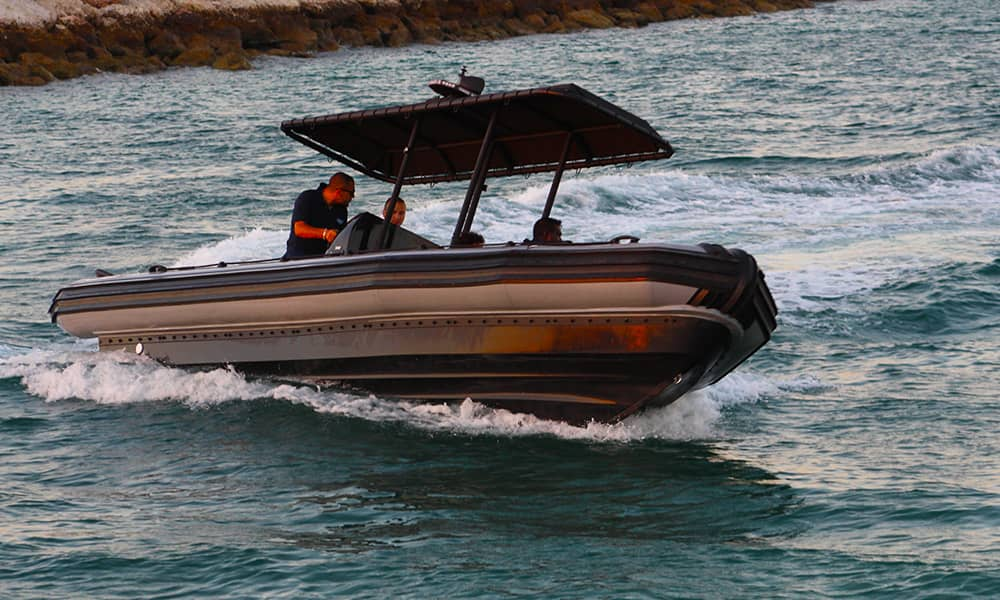 anti-piracy rigid hulled inflatable boats